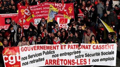 Nueva jornada de manifestaciones en Francia contra la reforma jubilatoria