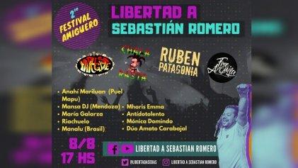 Segundo festival virtual por la libertad de Sebastián Romero