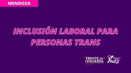Mendoza: proponen que la Legislatura haga ley la inclusión laboral trans