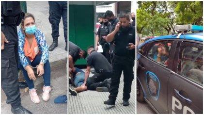 La Policía arresta a dos trabajadores del acampe frente al Ministerio de Salud