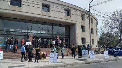 Fuerte movilización de trabajadores del poder judicial