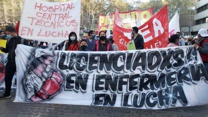 Trabajadores de la salud de Mendoza volvieron a la calles por el salario y contra la precarización laboral