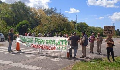 Parque Pereyra: corte de trabajadores para visibilizar las malas condiciones laborales