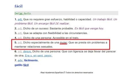 """Real Academia Española: mujeres """"fáciles"""", """"sexo débil"""" y el abecé del machismo"""