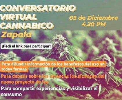 Convocan al primer conversatorio virtual cannábico de Zapala