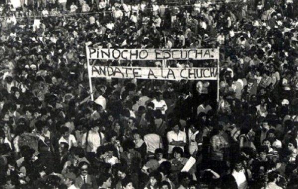 Primer paro de protesta contra Pinochet